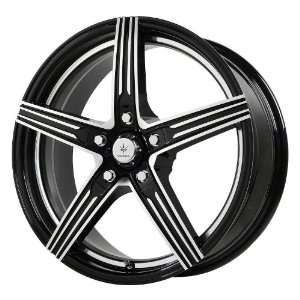 Wheels Official Gloss Black Wheel with Machined Spokes (16x7.5/5x5