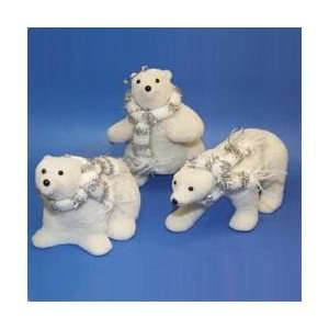 Club Pack of 24 Ice Palace White Fuzzy Arctic Polar Bear