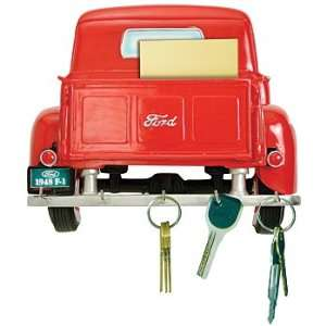 Rear 1948 Red Ford Pickup Truck   Mounted Keyrack