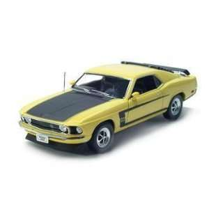 1/18 1969 Ford Mustang Boss 302 Diecast Model Car YELLOW
