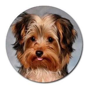 Yorkshire Terrier Puppy Dog 10 Round Mousepad BB0656