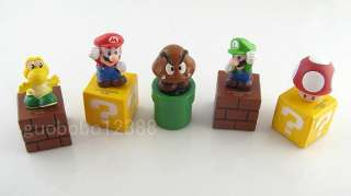 Nintendo Super Mario Bros 5 Action Figure Set NEW