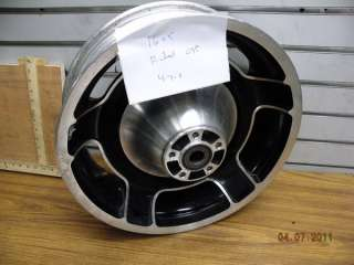 REAR MAG WHEEL BLACK HARLEY STREET GLIDE TOURING 16X5