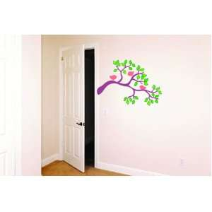 Removable Wall Decals  Three Birds in Tree Branch