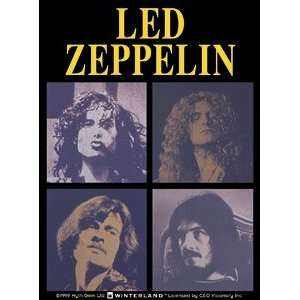 LED ZEPPELIN BAND FACES STICKER