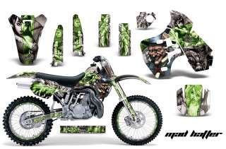 AMR RACING DIRT BIKE NUMBER PLATE BACKGROUND GRAPHIC KAWASAKI KX 500
