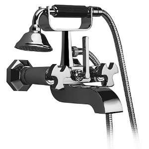 Aqua Brass Belmondo Wall Mount Cradle Tub Filler W/ Hand Shower B9104