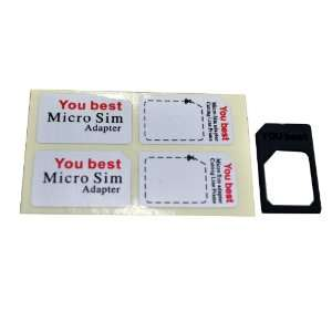 Micro Sim to Sim Microsim Card Adapter Converter Tray