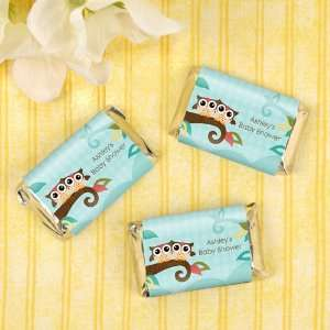 Owl   Look Whooos Having Twins   20 Mini Candy Bar Wrapper Sticker