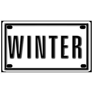 Winter 2 1/4 X 4 Aluminum Die cut Sign Arts, Crafts & Sewing