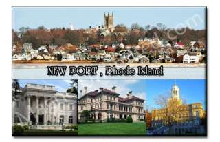 Newport   Rhode Island RI Souvenir Photo Fridge Magnet