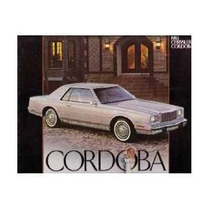 1983 CHRYSLER CORDOBA Sales Brochure Literature Book Automotive