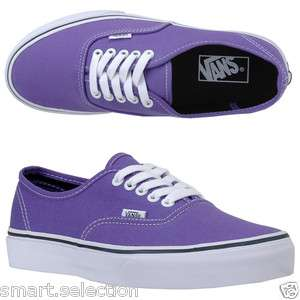 Vans Authentic Purple Passion Flower Black Lace up SkateBoarding Men