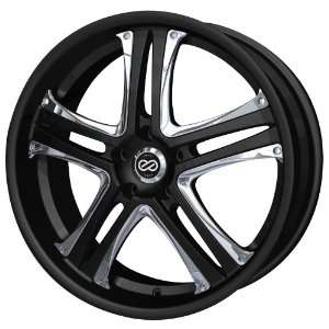 18x8 Enkei AKP (Black w/ Chrome Trim) Wheels/Rims 5x114.3