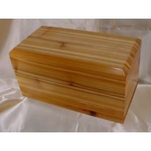 Handcrafted western red cedar wood cremation urn Large