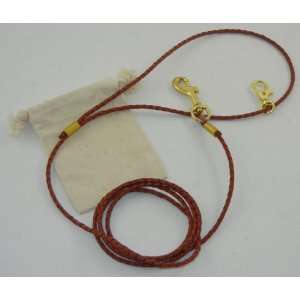 LeashInaBag 1/8 inch Leather Braided Bolo Cord is 6 Ft