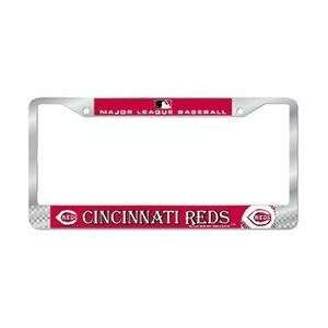 Cincinnati Reds MLB Chrome License Plate Frame