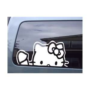 Hello Kitty Waving Car Window Vinyl Sticker Decal