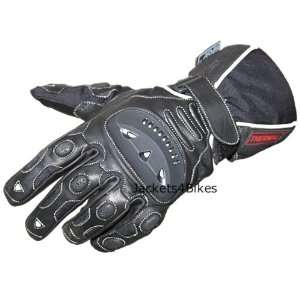 GT MENS MOTORCYCLE GLOVES WATERPROOF LEATHER BLACK M Automotive
