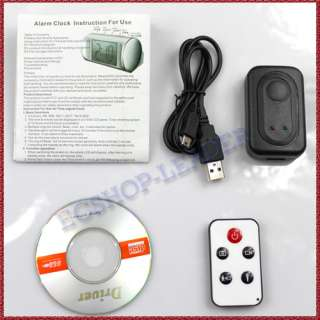 Surveillance Camera Clock Camcorder Remote Control +Motion Detection