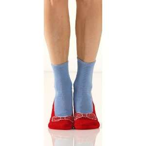 Foot Traffic Womens Non Skid Red Slipper Socks
