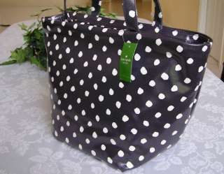 KATE SPADE DIZZY DOT ANABEL TOTE BAG PURSE NAVY BLUE NWT