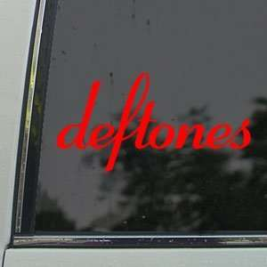 Deftones Red Decal Rock Band Car Truck Window Red Sticker Arts