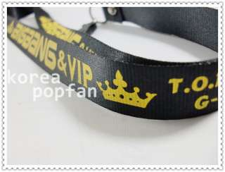 BIGBANG big bang KPOP MOBILE PHONE STRAP Black & Yellow NEW