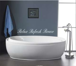 Relax Refresh Renew bathroom wall quote art vinyl decal sticker