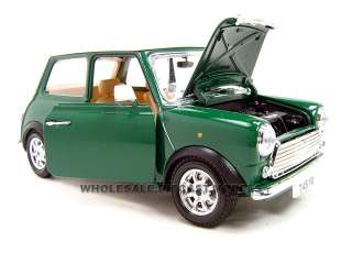 1969 MINI COOPER GREEN 118 DIECAST MODEL CAR BY BBURAGO 12036