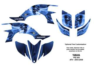 YAMAHA YFZ 450 Atv Graphic Decal Sticker Kit #6666Blue