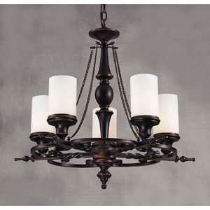 Baltimore House 5 Light Aged Bronze Chandelier 27 x 24