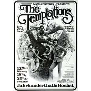 Temptations   Papa Was A Rolling Stone 1973   CONCERT   POSTER from