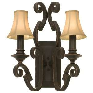 Ibiza 2 Light Wrought Iron Wall Sconce From the Ibiza Collection Home