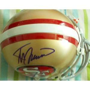Steve Spurrier autographed San Francisco 49ers mini helmet