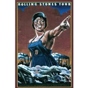 Rolling Stones   Large Woman Decal