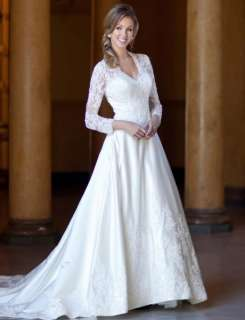 sleeves Arabia Wedding Dress Bridal Gown New Free SZ 2012♥