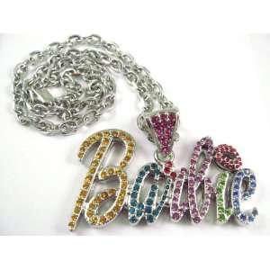 NEW NICKI MINAJ BARBIE Pendant w/ 20 Chain Silver Small