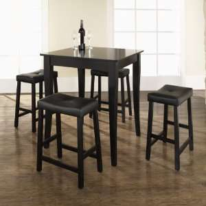 Crosley Furniture KD520004BK   5 Piece Pub Dining Set with Cabriole