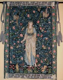 William Morris FLORA Tapestry Wall Hanging SUPERB