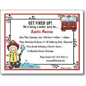Pen At Hand Stick Figures   Invitations   Firehouse (Inv