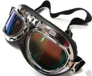 Steampunk Goggles Motorcycle Flight Pilot Tinted Lenses