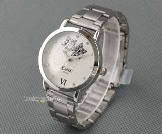 L360 Unisex Men Lady White Stars Hollow Out Quartz Stainless Steel