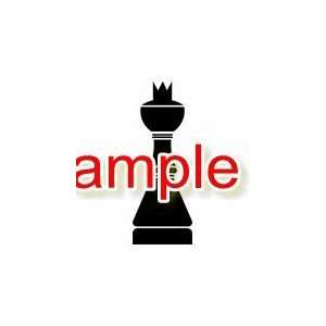 QUEEN CHESS PIECE WHITE VINYL DECAL STICKER Everything