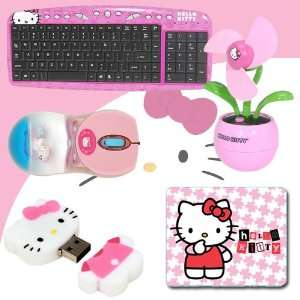 Hello Kitty 3D Mouse Pad (Pink) #74509 + Hello Kitty USB Desktop Fan