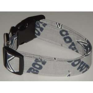 NFL Dallas Cowboys Football Dog Collar Grey Gray Small 1