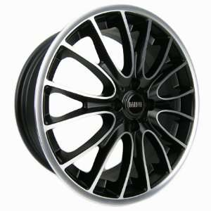 Sportrak   17 GLOSS BLACK / MACHINE FACE WHEELS MINI