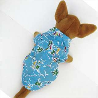 Hawaiian Shirt pet dog clothes APPAREL Chihuahua New