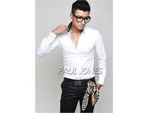 PJ New Classic Mens Casual Luxury Stylish Dress Slim Fit Shirts Tops
