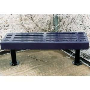 Slatted Backless Commercial Grade Park Bench Patio, Lawn & Garden